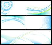 抽象的な青い背景のセット — ストックベクタ