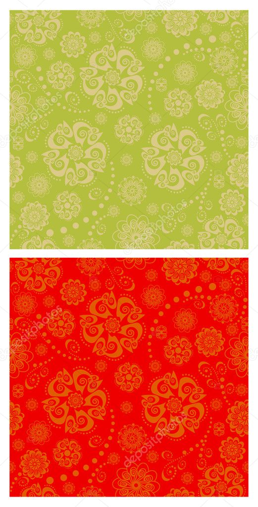 Vector seamless ornamental backgrounds set — Stock Vector #8949832