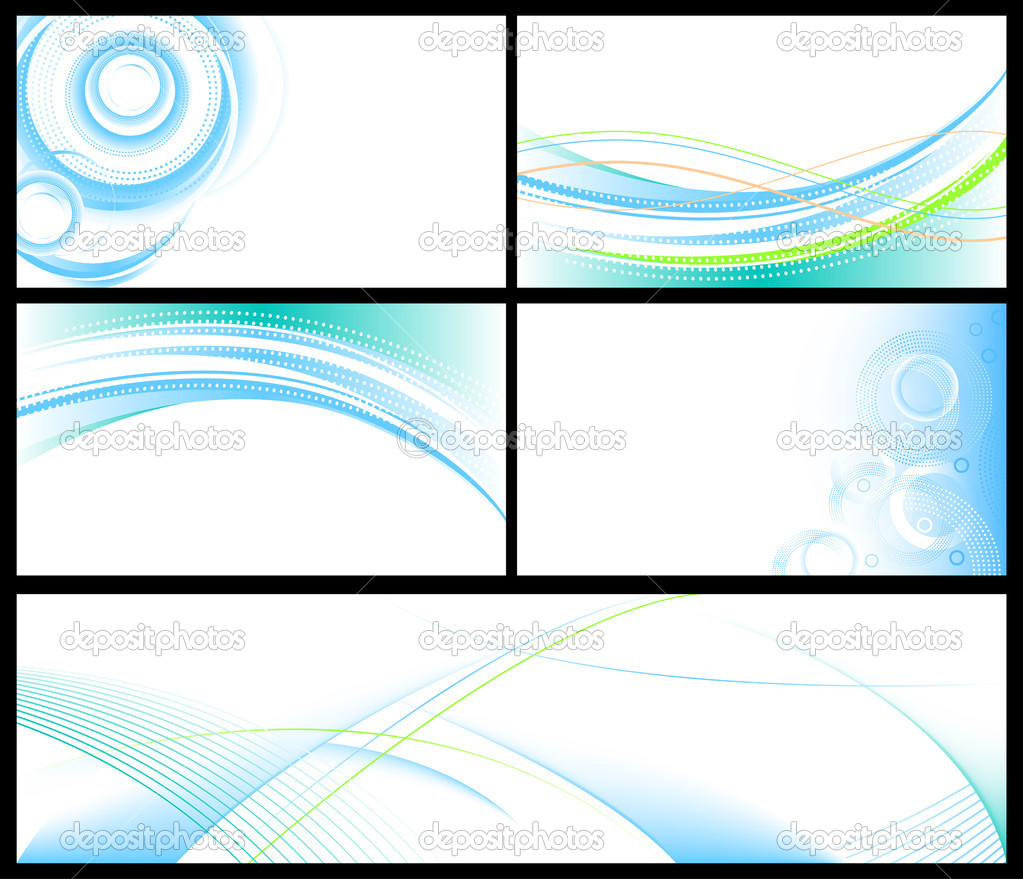 Vector abstract backgrounds & banners collection. — Stock Vector #8949858