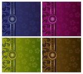Luxury floral vector backgrounds set — ストックベクタ
