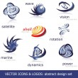 Abstract vector icons & logos set - Stok Vektör