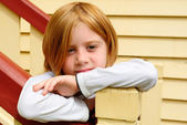 Sad and lonely young blond girl — Stock Photo