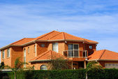 House with terracotta roof tiles — Stock Photo
