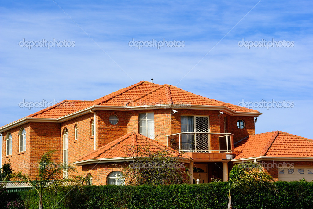 Modern house with terracotta roof tiles  Stock Photo #10368665