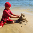 Playing on the beach — Stock Photo #9819142