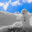 Little snowman — Stock Photo