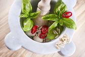绿香蒜酱 — 图库照片