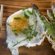 Asparagus and eggs — Stock Photo