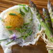Asparagus and eggs - Photo