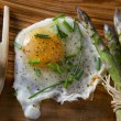 Asparagus and eggs - Stock Photo