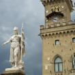 Square of freedom Republic of San Marino - Stock Photo
