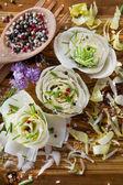 Salad of White Belgium — Stock Photo