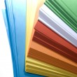 Stack of colored paper - Foto Stock