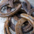 Rusty horseshoes - Foto Stock