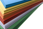 Stack of colored paper — Stock Photo