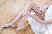 Treatment of leg — Stock Photo