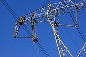 Repairing a power line — Stock Photo