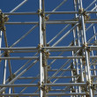 Security structure scaffolding — Stock Photo