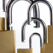 Family of padlocks - Stock Photo