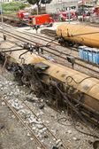 Train accident — Stock Photo