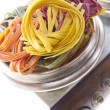 Tricolor pasta — Stock Photo