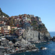 Houses over the sea in Camogli — Stock Photo