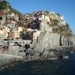 Houses over the sea in Camogli — Photo