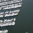 Aerial view of the yacht - Stock Photo