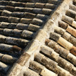Background of old roof tiles — Foto Stock