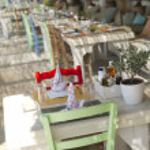 Restaurant on the sea — Stock Photo