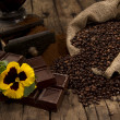 Coffee and chocolate — Stock Photo #9261602