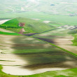Terraced fields in hills. — Stock Photo