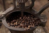 Antique coffee grinder — Stock Photo