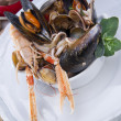 Stock Photo: Seafood soup with squid