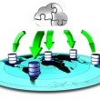 Cloud backup — Stock Photo