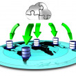Stock Photo: Cloud backup