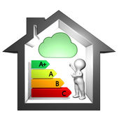 Index of dangerous substances emissions into indoor air — Stock Photo