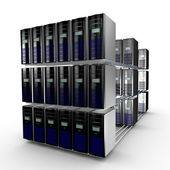 Computer cluster — Stock Photo