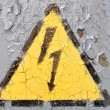 Stock Photo: Sign of Danger High Voltage Symbol