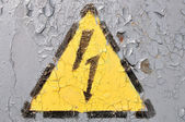 Sign of Danger High Voltage Symbol — Stock Photo