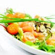 Freshness Salmon Salad - Stock Photo