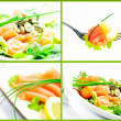 Freshness Salmon Salad — Stock Photo #9085631