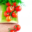 Tomatos on white background — Stock Photo