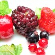 Close up of frozen mixed fruit - berries — Stock Photo #9577450