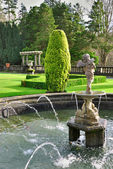 Formal English Garden, Rydal Hall — Stock Photo
