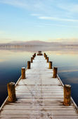 Jetty At Windermere, English Lake District — Stock Photo