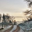 Frozen Farm Track At Sunrise — Stock Photo #8712742