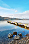 Jetty Over Lake, Windermere — Stock Photo