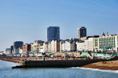 Beach And Promenade Brighton — Stock Photo