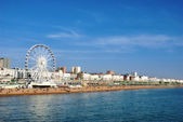 Panoramic View Brighton Beachfront — Stock Photo